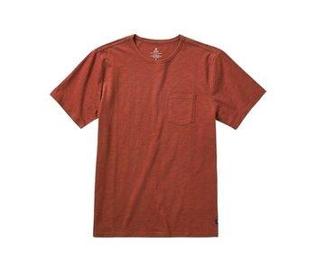 Roark - T-shirt homme well worn midweight organic dark red