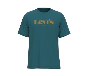 Levi's - T-shirt homme relaxed fit mv color extension colonial blue