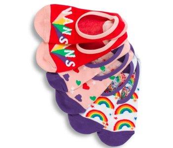 Vans - Bas femme rainbow party canoodle 3 pack multi