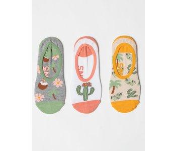 Vans - Bas femme desert palms canoodle 3 pack multi