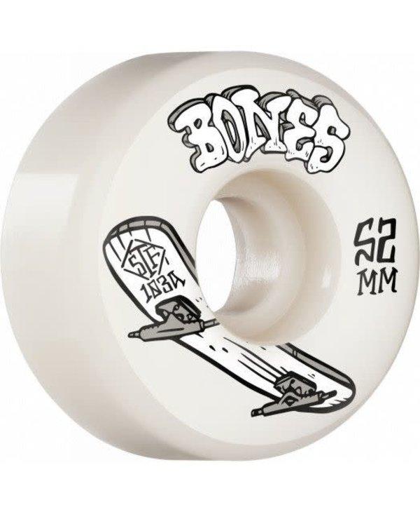 Bones - Roue skateboard stf heriage boneless white 103A