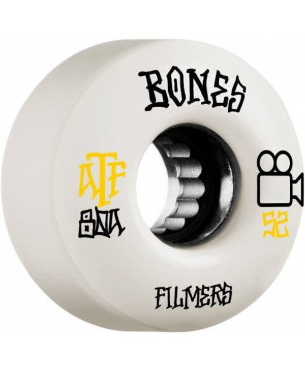 Bones - Roue skateboard atf filmers white 80A