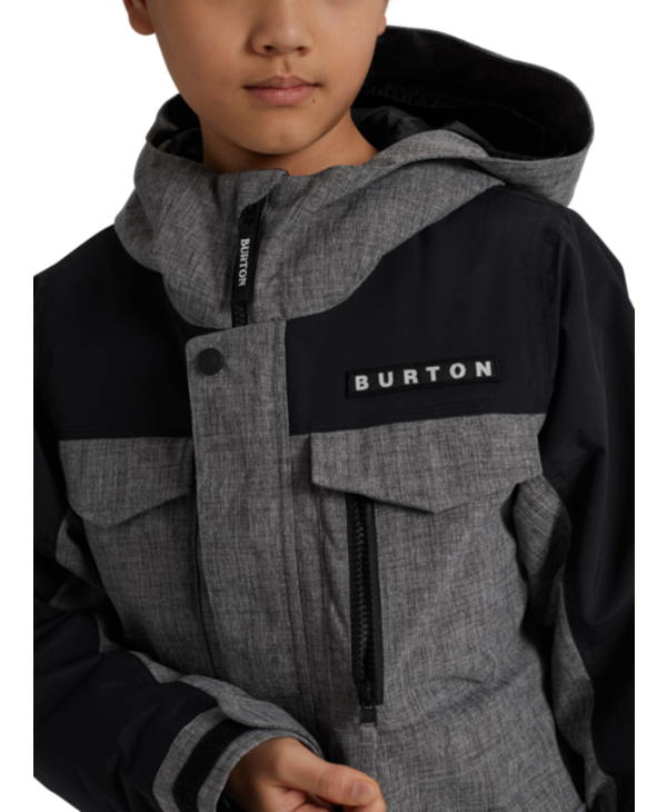 Burton - Manteau junior covert bog heather/true black