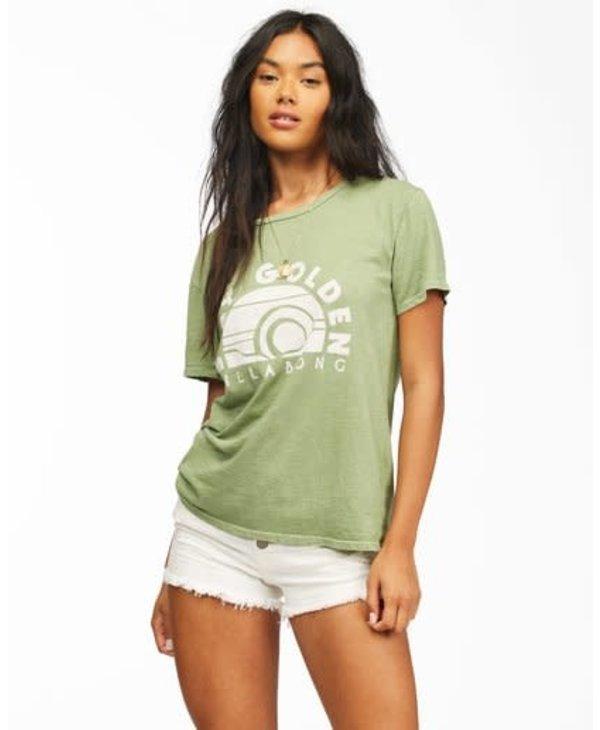 Billabong - T-shirt femme stay golden safari green