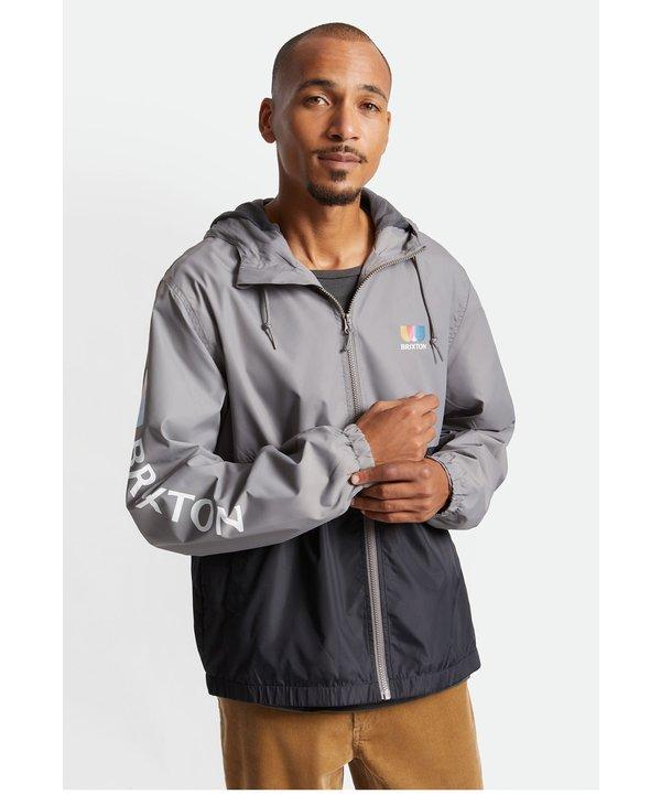 Brixton - Imperméable homme claxton alton lightweight zip black/grey