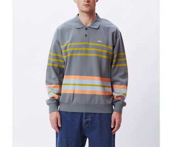 Obey - Ouaté homme isso triped polo tarmac multi