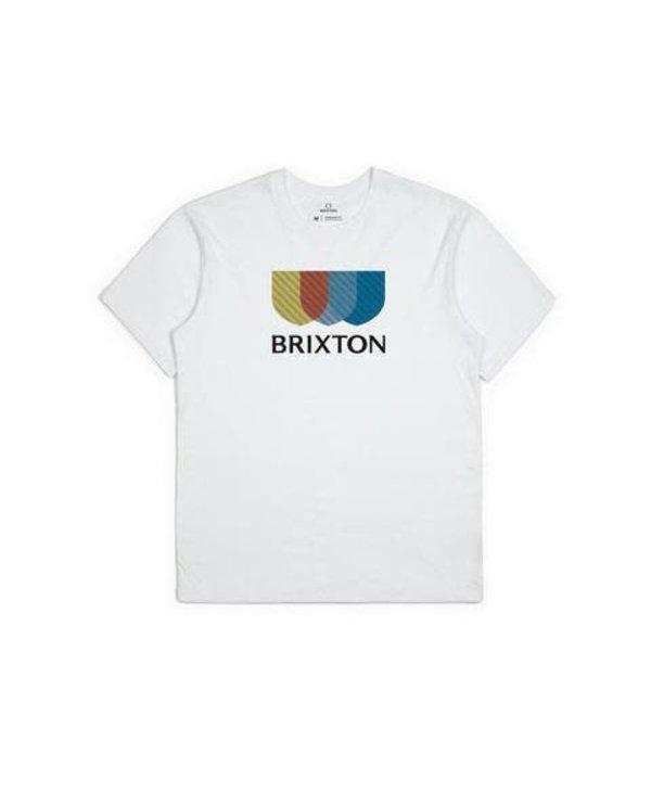 Brixton - T-shirt homme alton stripe stt white