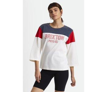 Brixton - T-shirt femme phys. ed. football off white
