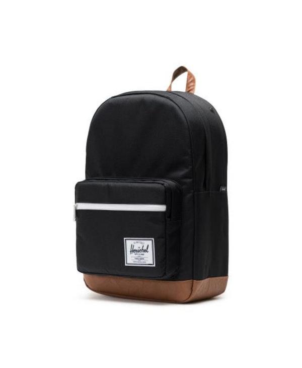 Herschel - Sac à dos pop quiz black/tan synthetic leather