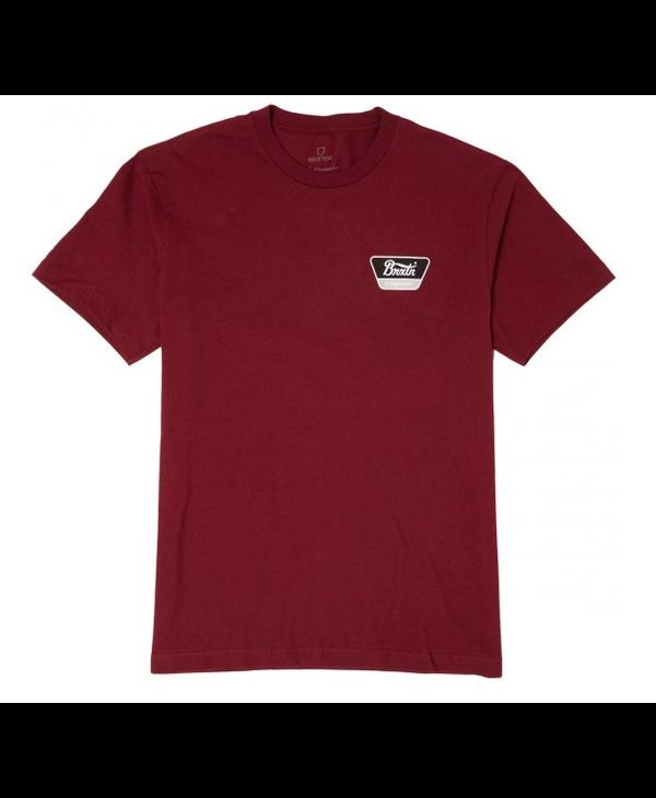Brixton - T-shirt homme linwood stt burgundy