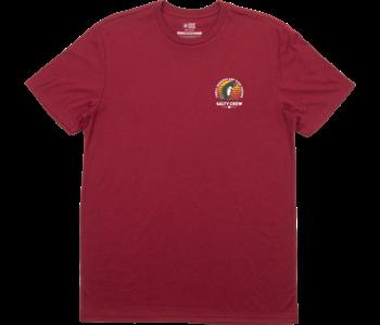 Salty Crew - T-shirt homme blowup premium burgundy