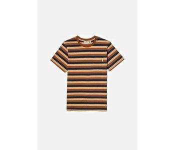Rhythm - T-shirt homme everyday stripe clay