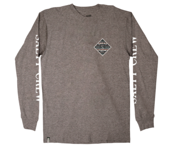 Salty Crew - Chandail long homme tippet refuge premium heather charcoal