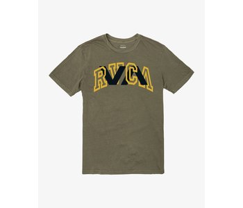 Rvca - T-shirt homme double major olive