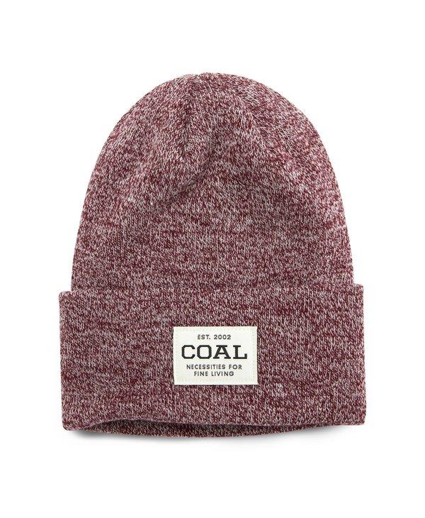 Coal - Tuque uniform knit cuff burgundy marl