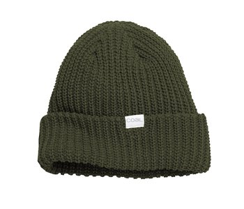 Coal - Tuque eddie recycled knit cuff olive
