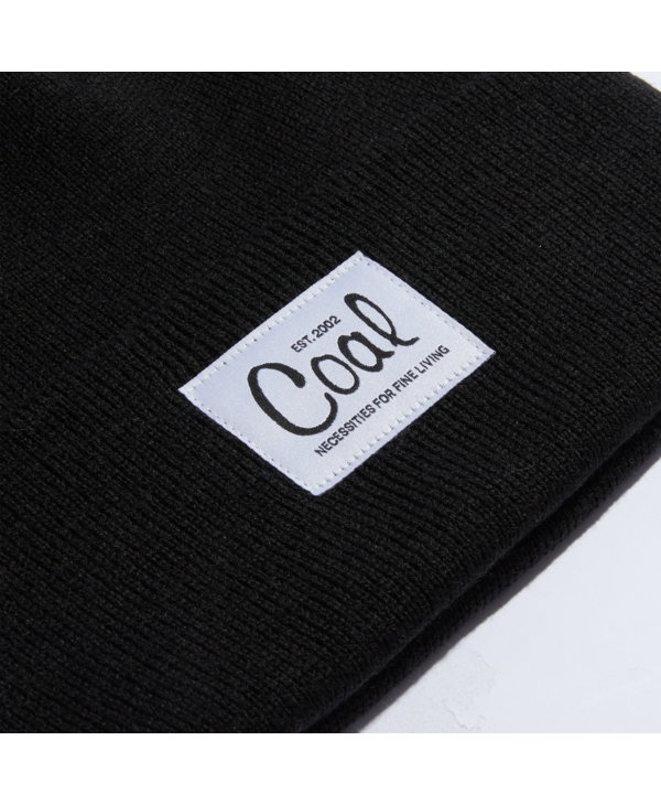 Coal - Tuque mel recycled polylana knit black