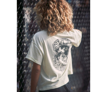 Rvca - T-shirt  femme crop  st margret cool mint