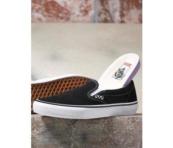Vans - Soulier junior skate slip-on black/white