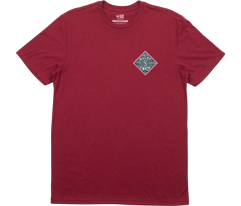 Salty Crew - T-shirt homme tippet refuge premium burgundy