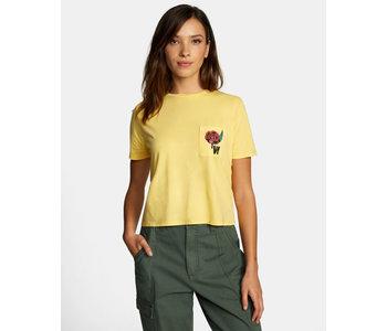 Rvca - T-shirt femme framed pocket gold