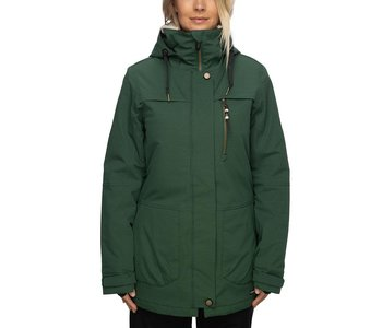 686 - Manteau femme spirit insulated pine green geo jacquard