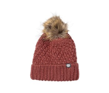 686 - Tuque femme majesty cable knit desert rose