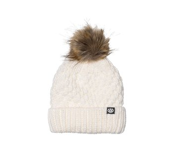 686 - Tuque femme majesty cable knit white