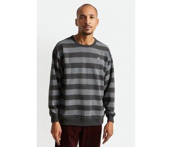 Brixton - Ouaté homme hilt stripe crew washed black/beige