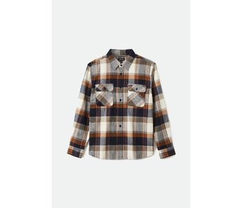 Brixton - Chemise homme bowery flannel joe blue/off white
