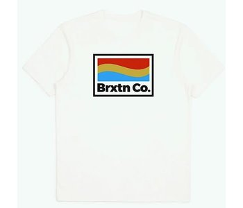 Brixton - T-shirt homme new wave tailored off white