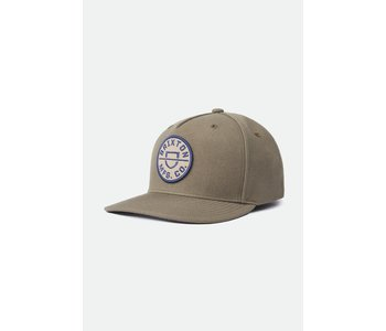 Brixton - Casquette homme crest crossover mp snapback military olive