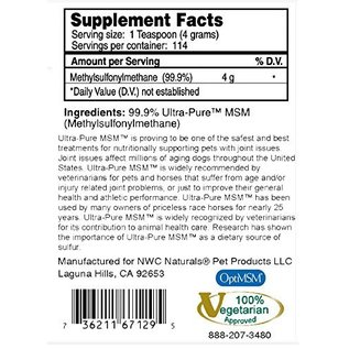 NWC Naturals NWC Naturals MSM Powder For Pets