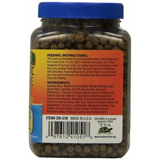 Zoo Med Zoo Med Natural Aquatic Turtle Food Growth Formula 7.5 oz