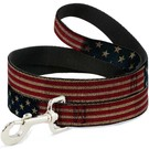 Buckle Down Buckle Down Vintage US Flag Leash 4 Ft.