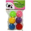 Cat A Lack Cat-A-Lack Multi Color Bell Balls 6PK