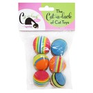 Cat A Lack Cat-A-Lack Striped Balls 6 PK