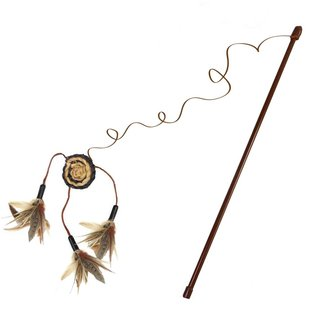 Cat A Lack Cat-A-Lack Wand with Dreamcatcher and Feather