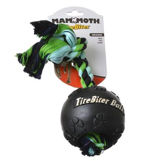 "Mammoth Mammoth Tirebiter Large 4.5"" Ball w/Rope"