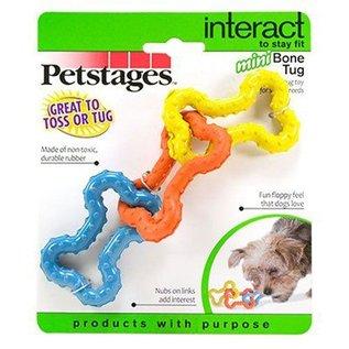 Petstages Petstages Bone Tug Toy Multi-Color Mini