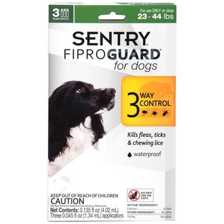 Sergeants Sergeant's Fiproguard Flea & Tick Squeeze-On for Dogs 23-44lbs