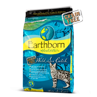 Midwestern Pet Food Earthborn Holistic Wild Sea Catch Dry Cat Food 5lb