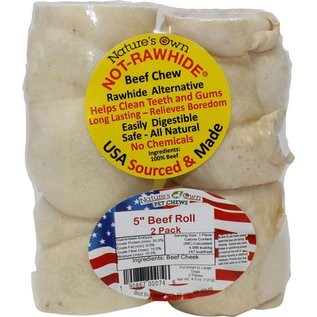"Best Buy Bones Best Buy Bones Not Rawhide 5"" Beef Roll 2 Pack"