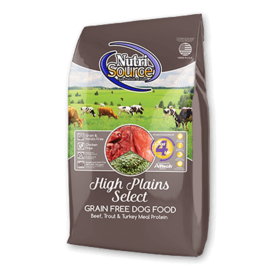 Nutrisource NutriSource Grain Free High Plains 5 lb  IN STORE PICK UP ONLY