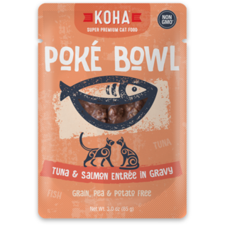 Koha Koha Cat Pouch Poke Bowl 2.8 oz Tuna Salmon