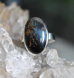 Pietersite Ring ~ Oval Cabuchon