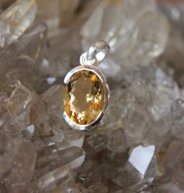 Citrine Pendant ~ Faceted