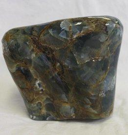 Lemurian Aquatine Calcite Polished Freeform ~ Argentina