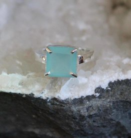 Chalcedony Square Cut Ring