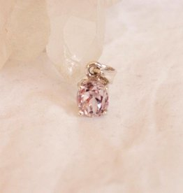 Kunzite Pendant ~ small faceted oval